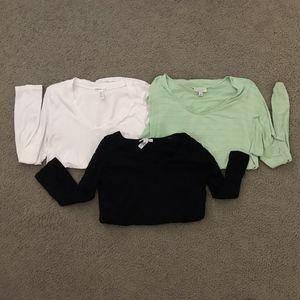 3 Pc Maternity Long Sleeve Shirt Lot - Liz Lange..